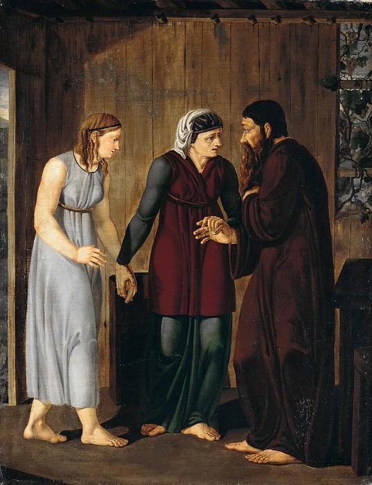 Свидание Авраама и Агари. Йозеф Винтергершт