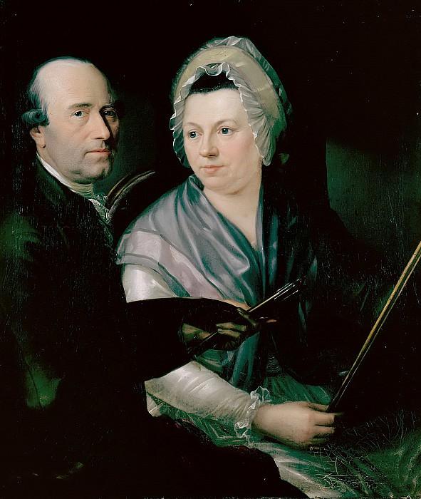 Johann Friedrich Weitsch and his first wife Anna Magdalena. Friedrich Georg Weitsch