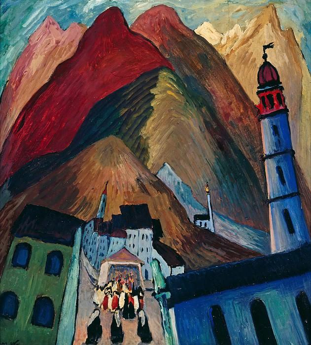 Procession in Ascona. Marianne von Werefkin