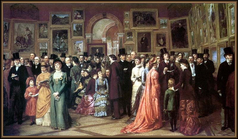 p vp William Powell Frith A Private View. Christopher Wood