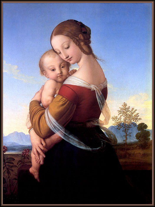 p vp William Dyce Madonna and Child. Christopher Wood