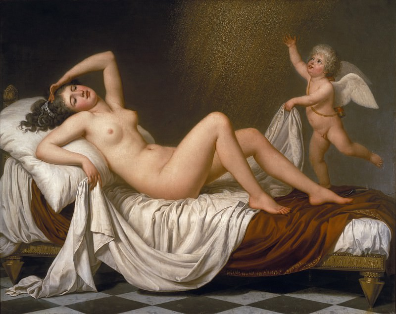 Danaë and the Shower of Gold. Adolf Ulrik Wertmüller