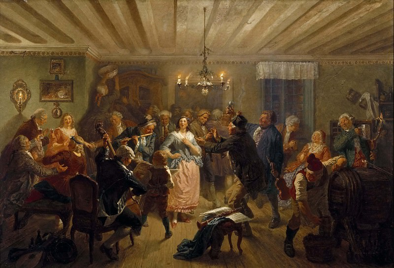 The Concert at Tre Byttor. Josef Wilhelm Wallander