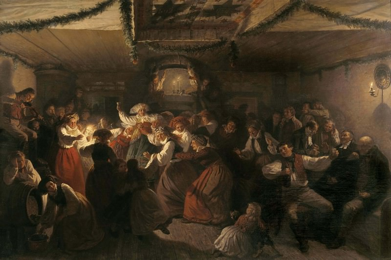 A Wedding Party from Vingåker. Josef Wilhelm Wallander