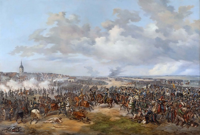 Swedish Troops Assaulting the Town Gate of Leipzig, October 19, 1813. Alexander Wetterling