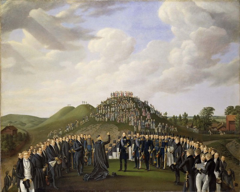King Carl XIV Johan Visiting the Mounds at Old Uppsala in 1834. Johan Way