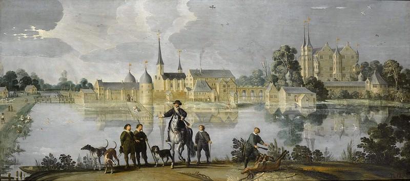 Frederiksborg Castle in Denmark. Jan Claeszen van Wijck (Attributed)