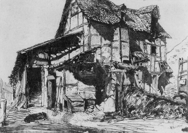 Whistler The Unsafe Tenement. James Abbott Mcneill Whistler