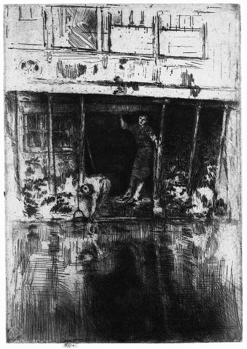 Whistler Pierrot (Oudezijds Achterburgwal). James Abbott Mcneill Whistler