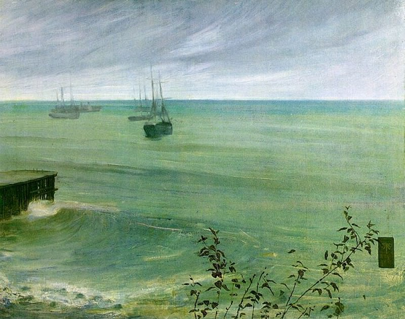 Symphony in Grey and Green The Ocean. James Abbott Mcneill Whistler