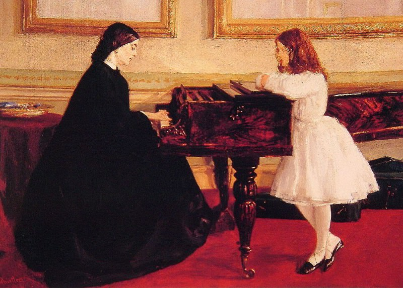 At the Piano. James Abbott Mcneill Whistler