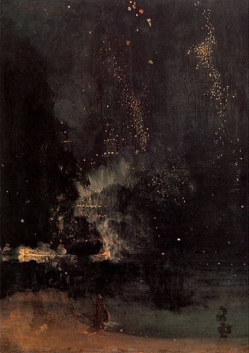 Nocturne in Black and Gold The Falling Rocket. James Abbott Mcneill Whistler
