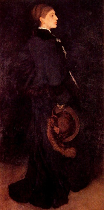 Arrangement in Brown and Black Portrait of Miss Rosa Corder. James Abbott Mcneill Whistler