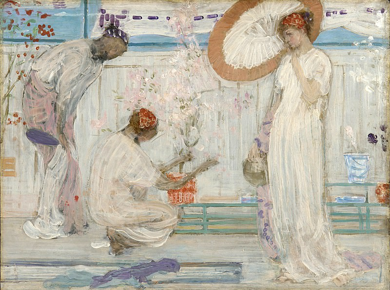 Джеймс Эббот Макнил Уистлер - Белая симфония. James Abbott Mcneill Whistler (The White Symphony Three Girls)
