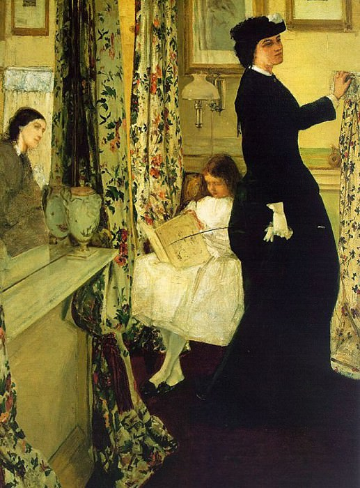 Harmony in Green and Rose The Music Room. James Abbott Mcneill Whistler