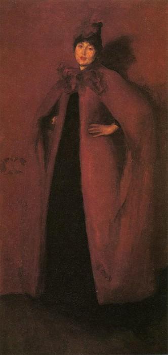 Whistler Harmony in Red Lamplight. James Abbott Mcneill Whistler