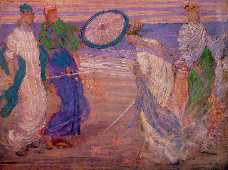 Symphony in Blue and Pink. James Abbott Mcneill Whistler