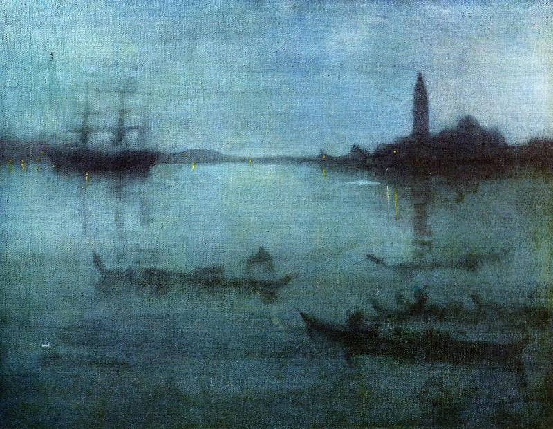 Whistler Blue and Silver Nocturne in Blue and Silver The Lagoon Venice. James Abbott Mcneill Whistler