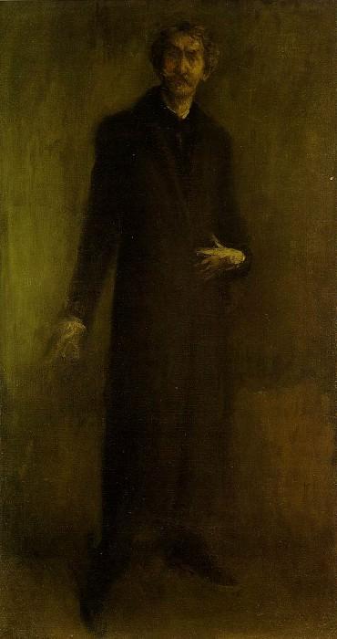 Whistler Brown and gold, 1895-1900, 95.8x51.5 cm, Hunterian. James Abbott Mcneill Whistler