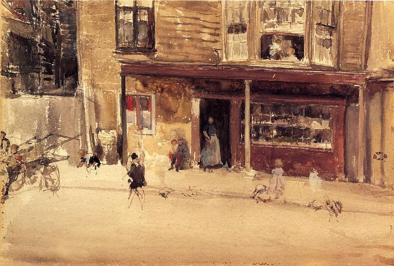 Whistler The Shop An Exterior. James Abbott Mcneill Whistler