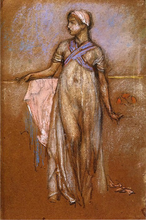 Whistler The Greek Slave Girl aka Variations in Violet and Rose. Джеймс Эббот Мак-Нейл Уистлер