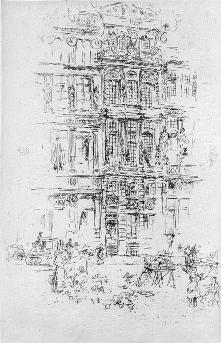 Whistler Palaces Brussels. James Abbott Mcneill Whistler