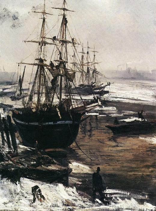 Whistler The Thames in Ice. James Abbott Mcneill Whistler