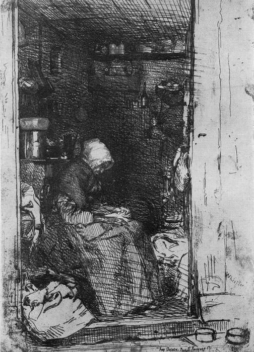 Whistler La Vieille aux loques. James Abbott Mcneill Whistler