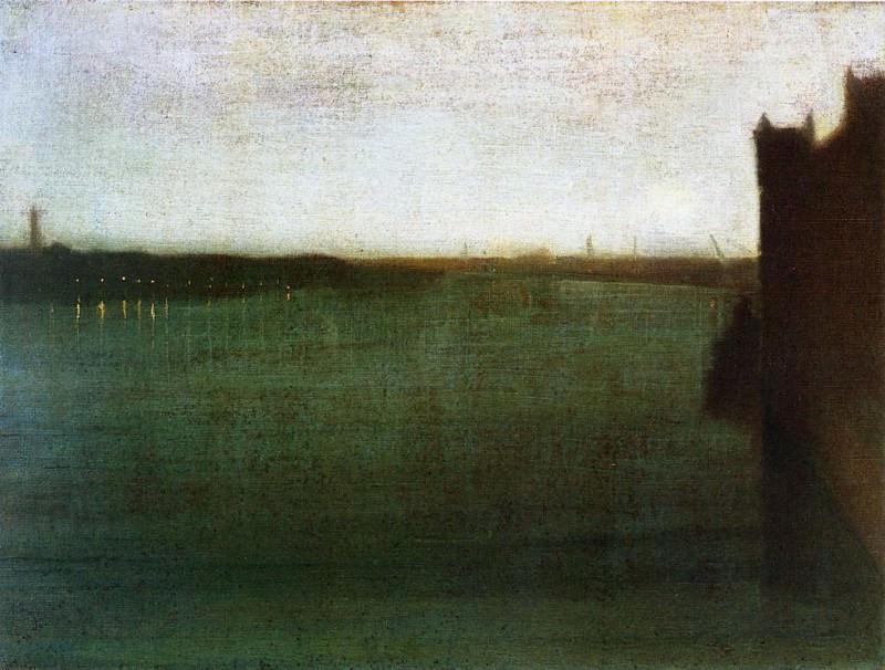 Whistler Nocturne Grey and Gold. Джеймс Эббот Мак-Нейл Уистлер