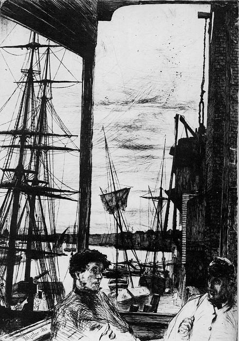 Whistler Rotherhithe. James Abbott Mcneill Whistler