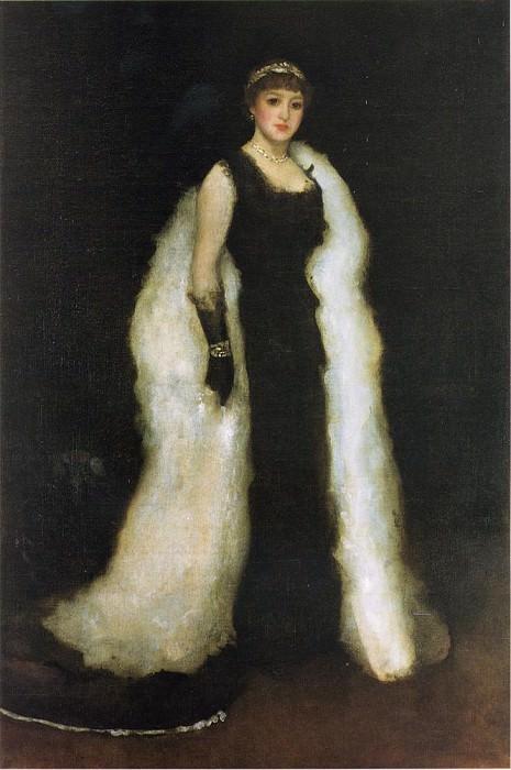 Whistler Arrangement in Black No.5 Lady Meux. James Abbott Mcneill Whistler