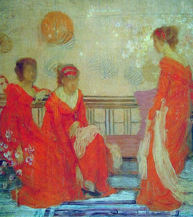 Red and Black. James Abbott Mcneill Whistler