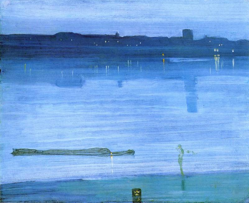 Whistler Nocturne Blue and Silver Chelsea. James Abbott Mcneill Whistler