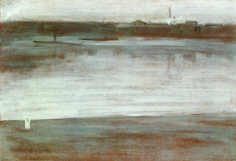 Whistler Symphony in Grey Early Morning Thames. Джеймс Эббот Мак-Нейл Уистлер