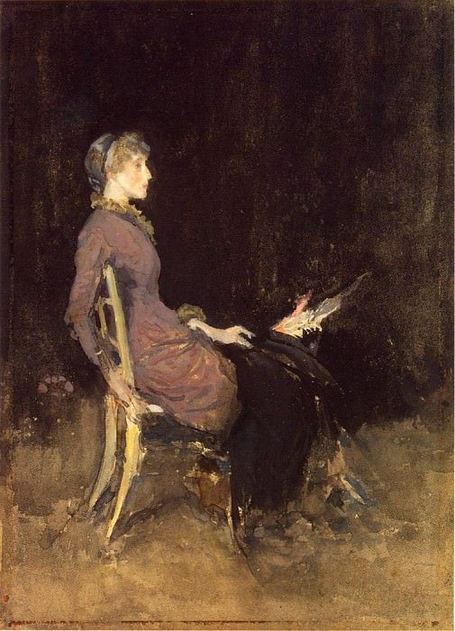 Whistler Black and Red aka Study in Black and Gold (Madge O-Donoghue). James Abbott Mcneill Whistler