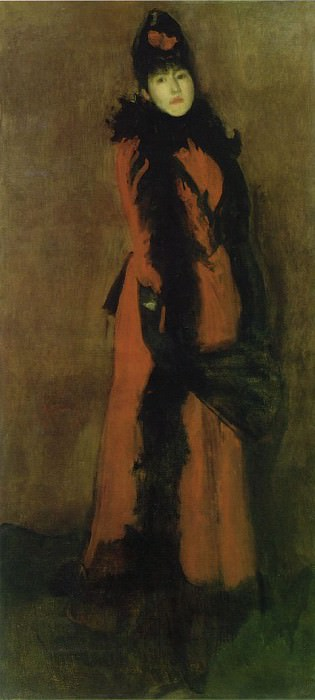 red-black. James Abbott Mcneill Whistler