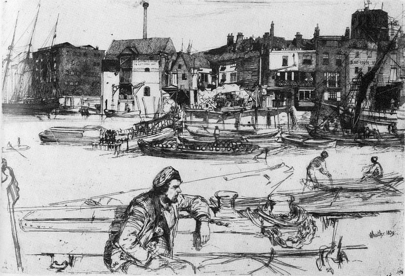Whistler Black Lion Wharf. James Abbott Mcneill Whistler