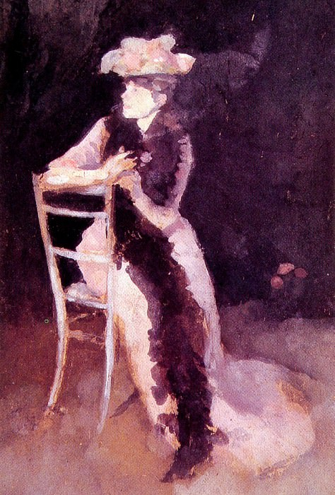 Rose and Silver Portrait of Mrs Whibley. James Abbott Mcneill Whistler