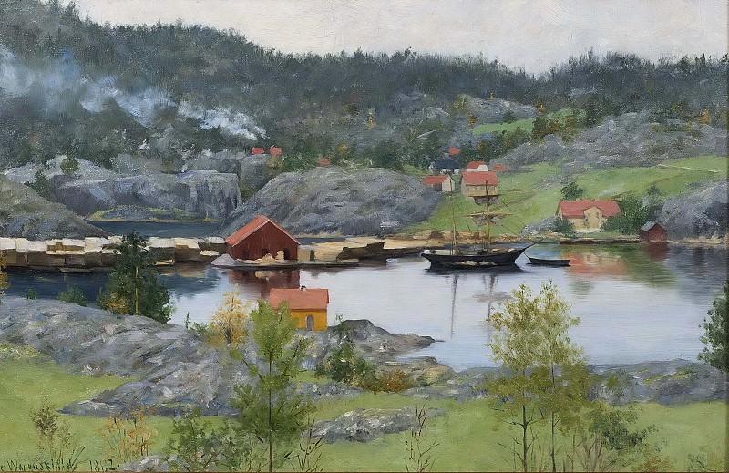 Fiord Landscape. Sofie Werenskiold
