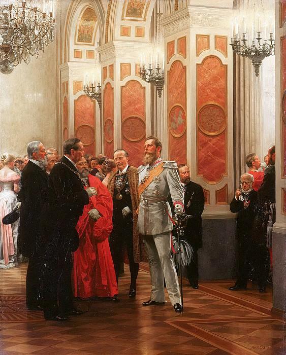 Кронпринц Фридрих на придворном балу 1878 года. Антон фон Вернер