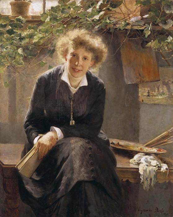 Portrait of the painter Jeanna Bauck. Bertha Wegmann