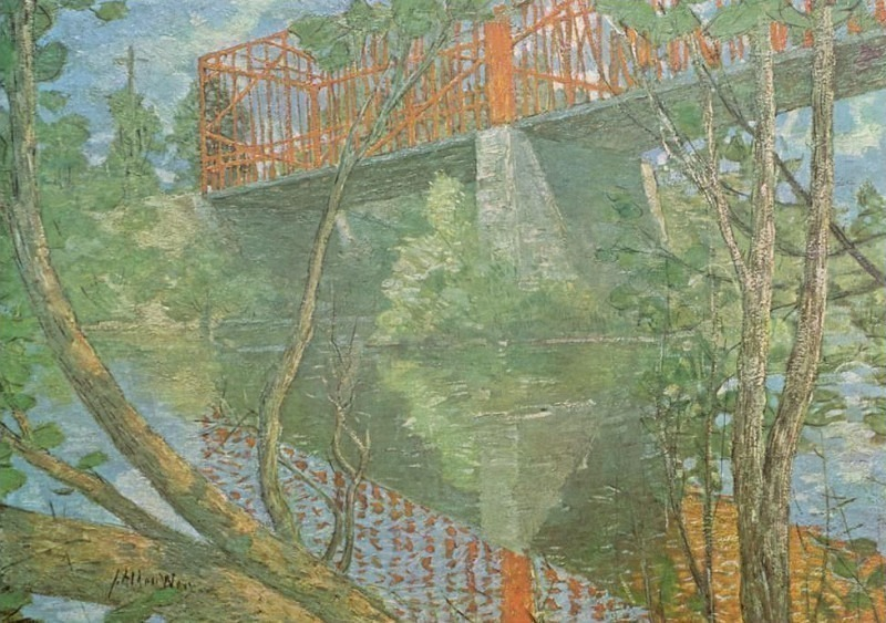 J Alden Weir-The Red Bridge(Unk) Po Amp 062. Джулиан Олден Вейр
