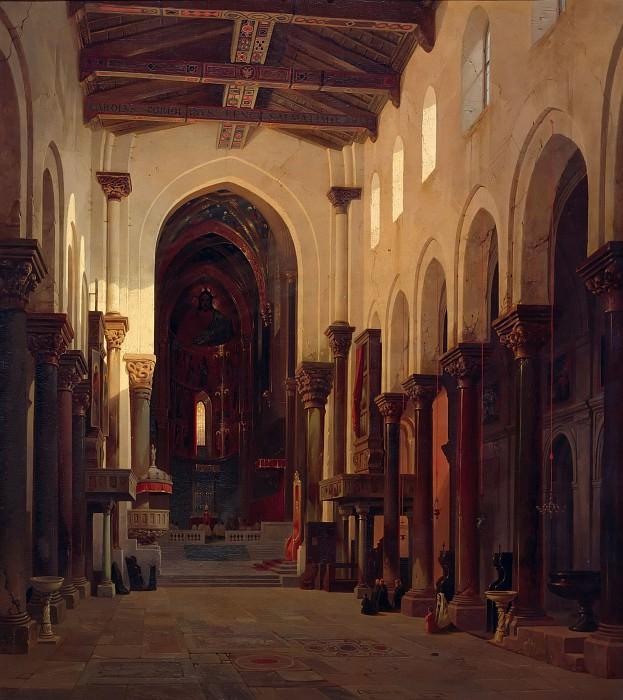 Интерьер собора в Чефалу, Сицилия. Карл Вернер