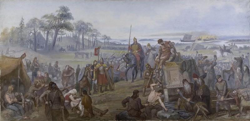 After the Battle of Fyrisvall. Mårten Eskil Winge
