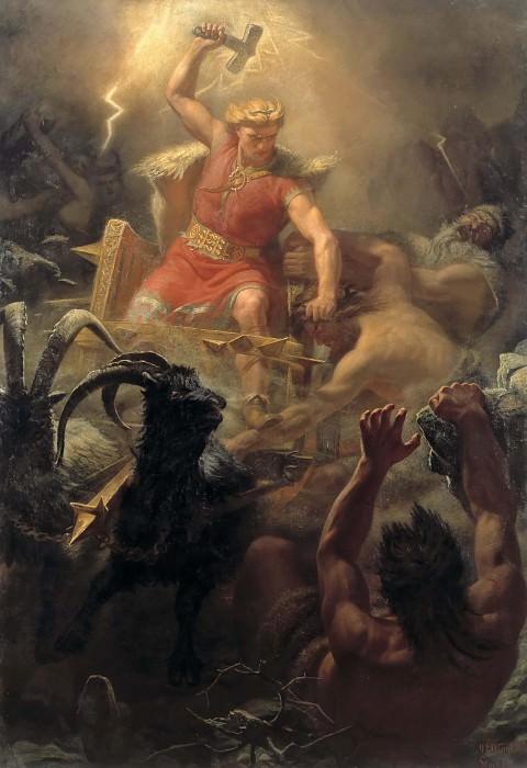 Tor's Fight with the Giants. Mårten Eskil Winge