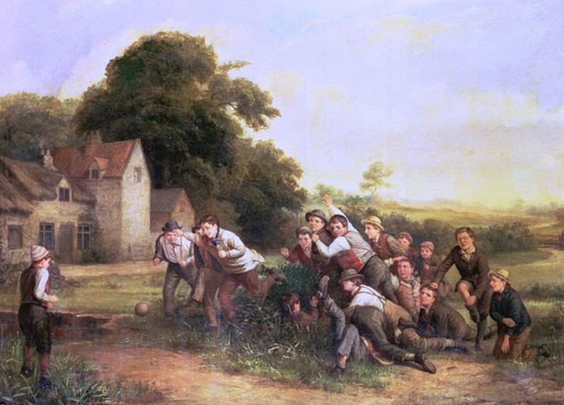 The Football Game. Thomas Webster