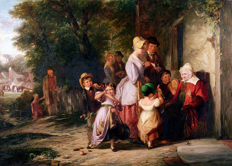 Returning from the Fair. Thomas Webster