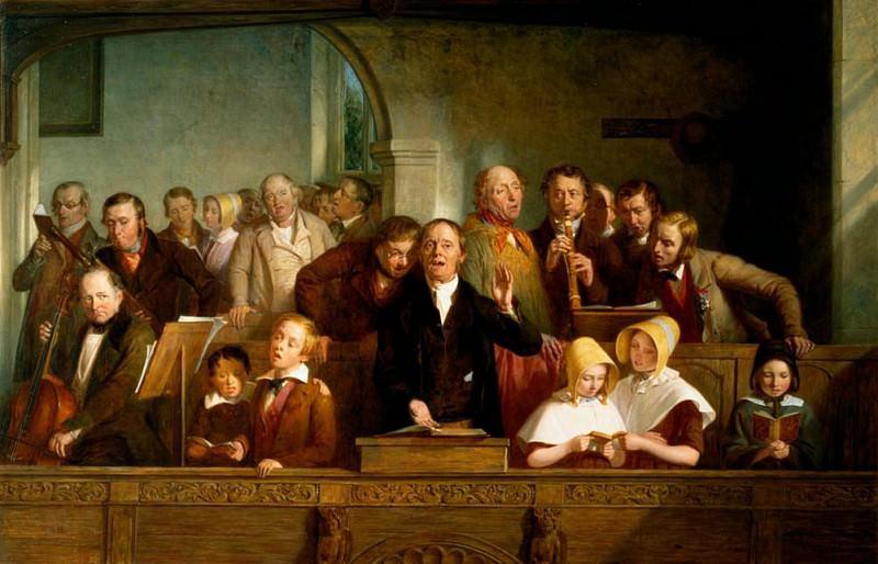 Village choir. Thomas Webster