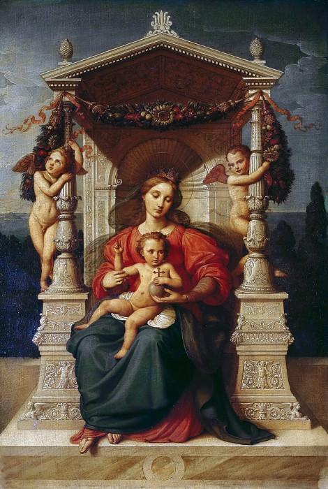 Enthroned Madonna. Karl Wilhelm Wach