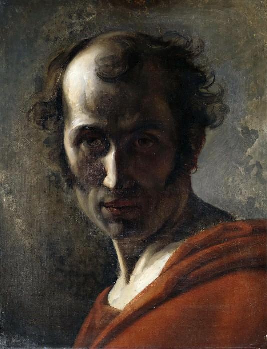 Male head study. Karl Wilhelm Wach